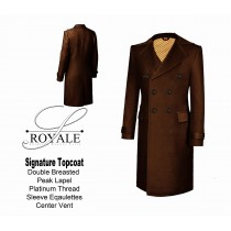 Brown 24k Gold Lined Topcoat
