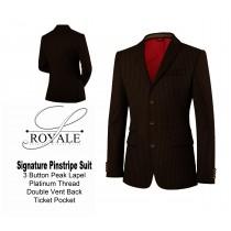 Brown Pinstripe Suit