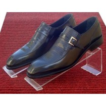 Lizard Loafer with Platinum Buckle