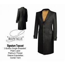 Grey 24k Gold Lined Topcoat