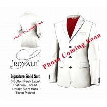 White Pinstripe Suit