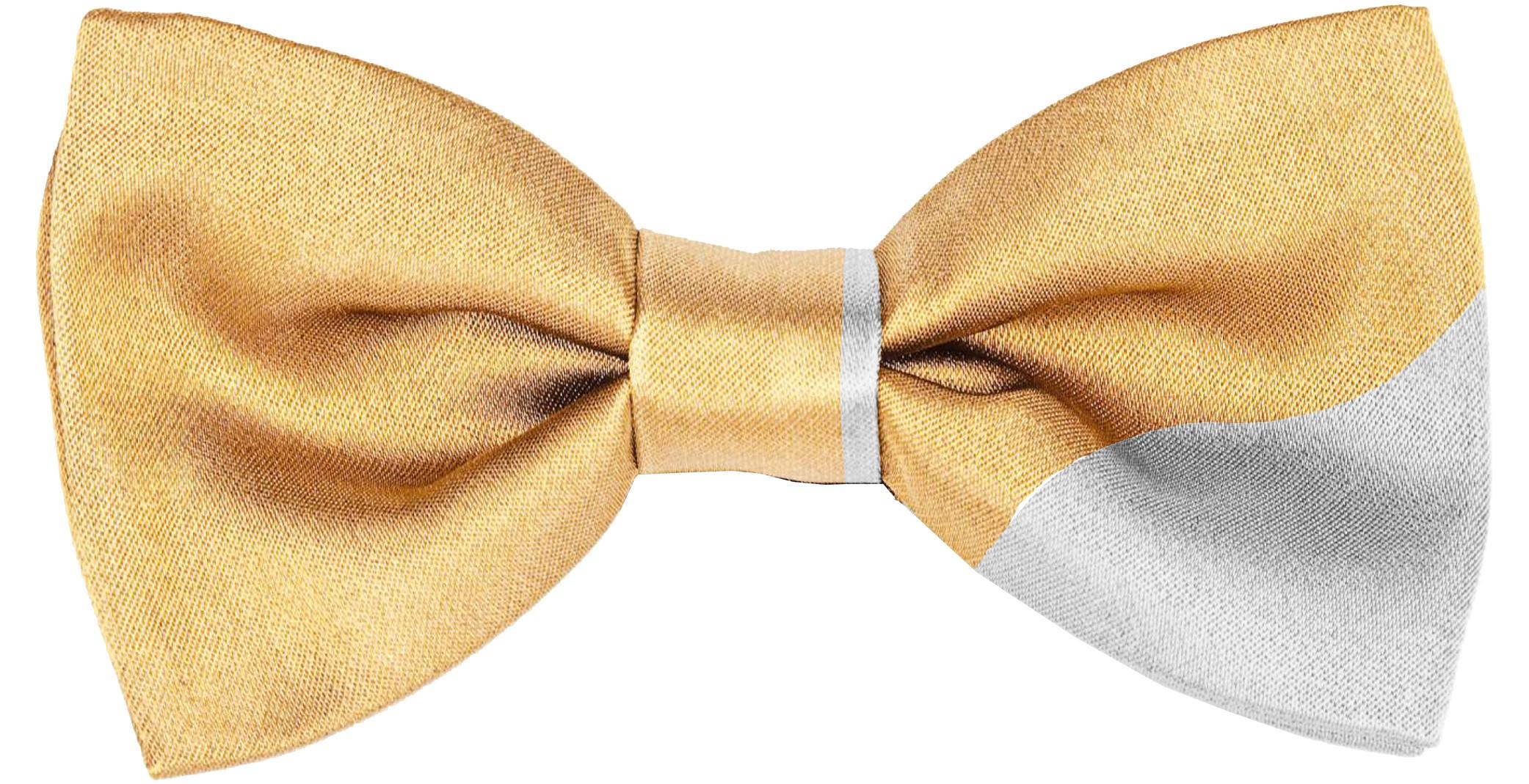 24k Gold Bowtie in White