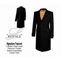 Black 24k Gold Lined Topcoat