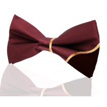 Signature Contrast Burgundy with 24k Gold Embroidery