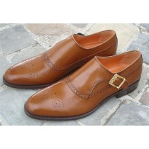 Honey Loafer with 24k Gold Buckle