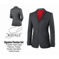 Medium Grey Pinstripe Suit